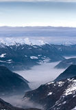 Winter Alps landscape Royalty Free Stock Images