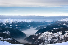 Winter Alps landscape Royalty Free Stock Photo