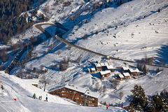 Winter Alps landscape Stock Photography