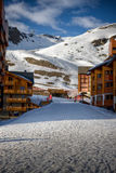 Winter Alps landscape from Val Thorens. Winter Alps landscape from ski resort Val Thorens stock photography