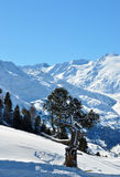 Winter Alps lanscape. Winter Alps landscape from ski resort Hochgurgl Royalty Free Stock Photo