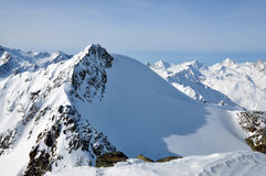 Winter Alps lanscape. Winter Alps landscape from ski resort Solden Stock Photos