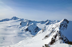 Winter Alps lanscape. Winter Alps landscape from ski resort Solden Stock Photography