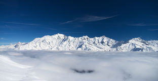 Winter Alps mountains Royalty Free Stock Images