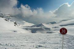 Winter Alps mountains Stock Photo