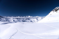 Winter Alps mountains Stock Images