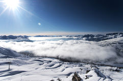 Winter Alps mountains Royalty Free Stock Photography