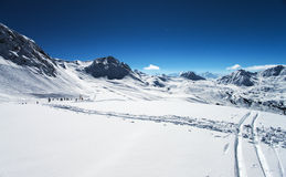 Winter Alps mountains Royalty Free Stock Image