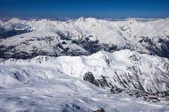 Winter Alps mountains Stock Image