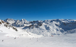 Winter Alps mountains Stock Image