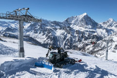 Winter in the alps Stock Photos
