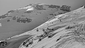 The winter in the Alps Royalty Free Stock Photography