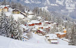 Winter in alps Stock Photography