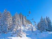 Winter in alps Stock Image