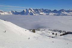 Winter in alps. Winter in the swiss alps, Switzerland Stock Photo