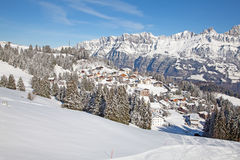 Winter in alps Stock Photo