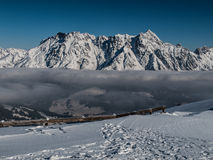 Winter Alps. Typical view of winter Alps Stock Images
