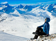 Winter Alps vacation Stock Photo