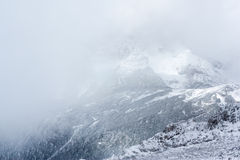 Winter in the Alps. Winter view from a mountain Royalty Free Stock Photography