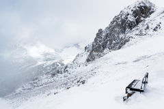 Winter in the Alps. Winter view from a mountain Royalty Free Stock Image
