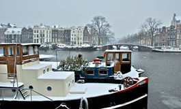 Winter in Amsterdam Royalty Free Stock Photos
