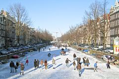 Winter in Amsterdam the Netherlands Stock Photo