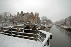 Winter in Amsterdam Netherlands Royalty Free Stock Photography