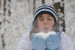 Winter amusements Stock Photography