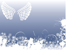 Winter angel background Royalty Free Stock Images