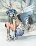 Winter Angel 3d CG vector illustration