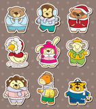 Winter animal stickers Stock Photo