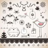 Vintage Christmas set Stock Images