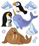 Winter animals topic set 1. Eps10 vector illustration stock illustration