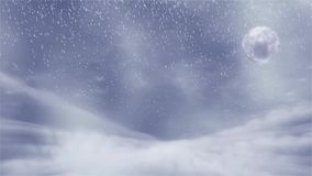 Winter background with snow storm, and moon, sutable for Christmas theme vector illustration