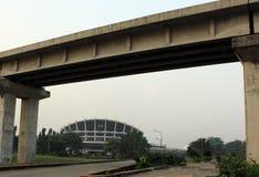WINTER-ANSICHT VON NATIOANAL-THEATER IGAMU, LAOS NIGERIA Stockbilder