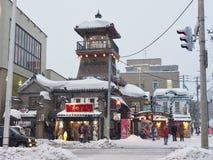 Winter-Ansicht von Otaru in Hokkaido stockbild