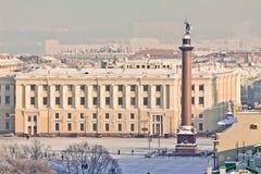 Winter-Ansicht von St Petersburg Stockfoto