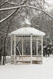 Winter.Arbour στο πάρκο. Στοκ Φωτογραφία