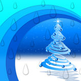 Winter Arcs Background Means Night Snow And Christmas Tree Royalty Free Stock Photos