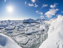 Winter in the Arctic  - ice, sea, mountains, glaciers - Spitsbergen, Svalbard Royalty Free Stock Photos