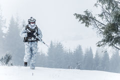 Winter arctic warfare Stock Images