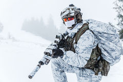Winter arctic warfare Stock Image