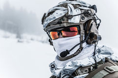 Winter arctic warfare Stock Photos