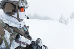 Winter arctic warfare Royalty Free Stock Photography