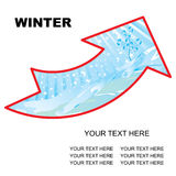 Winter arrow Stock Photography