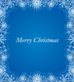 Winter art. Christmas blue background Royalty Free Stock Photos