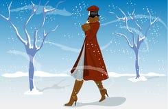 Winter-Art und Weise Stockfoto