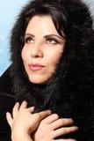 Winter-Art- und Weisefrau lizenzfreies stockbild
