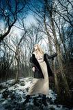 Winter-Art- und Weisefrau Stockbilder