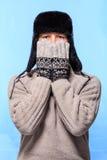 Winter-Art- und Weiseportrait Lizenzfreie Stockfotografie